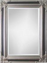 Spiegel - Paola- zwart / zilver - buitenmaten breed 130 cm x hoog 230 cm.