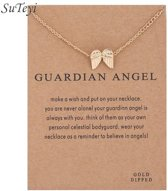 Guardian Angel Ketting Beschermengel Ketting Goudkleurig
