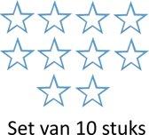 Muursticker blauwe sterren 11x11cm | Set van 10 stuks