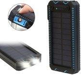 Solar - Powerbank - 30.000 mAh !! - Verlichting - Elektrische aansteker - (spat)waterdicht - Zonne-energie - USB oplader - Outdoor  - Extra Magnetische Micro USB kabel -