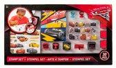 Slammer Disney Cars 30 Delige Stempelset voor Kinderen – 46x26x2cm | Stempelset voor Jongens en Meisjes met Inktkussentjes, Stempelvormen, Stempelhouder Ontwerpboekje en Stickervel
