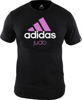adidas Community T-Shirt Zwart/Roze Judo Small