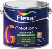 Flexa Creations - Muurverf Extra Mat - Puur Tijm - Mengkleuren Collectie- 2,5 Liter