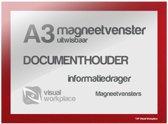 Magneetvenster A3 (uitwisbaar) - Rood