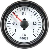 AutoStyle Performance Instrument Wit Turbodruk +2,0>1 bar 52mm