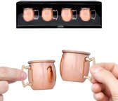 Decodyne moscow mule shot glasses -100% echt koper 60ml (Set van 4)
