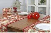 Tafelkleed - luxe gobelin - Kerst Schotland - Christmas - Vierkant 85 x 85 cm