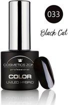 Cosmetics Zone UV/LED Hybrid Gel Nagellak 7ml. Black Cat 033