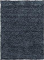 Modern tapijt met ruitdessin blauw - 60 x 100 cm