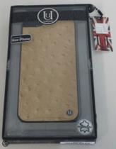 Uunique Hard Case Slimline Ostrich Tan voor Apple iPhone 5/5S