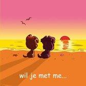 Woezel & Pip Wenskaart: wil je met me