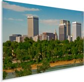 De skyline van het Amerikaanse Tulsa Plexiglas 60x40 cm - Foto print op Glas (Plexiglas wanddecoratie)