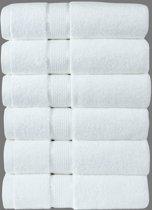 Homéé - Handdoeken Ruche 550g. p/m2 100% gekamde katoen Wit | 6 stuks | 50x100cm
