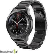 Metaal schakel bandje zwart geschikt voor Samsung Gear S3 & Galaxy Watch 46mm- SmartphoneClip