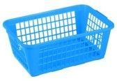 Set á 10 Opbergmandjes 4 ltr. 25 x 17 x 10 cm blauw medium