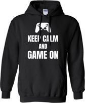 Hoodie sweater | Keep calm and game on | maat Large