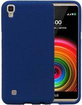 LG X Style K200 Blauw | Sand Look TPU Hoesje  | WN™