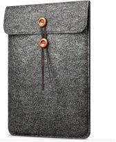 """Vilten Soft Sleeve Voor De Apple Macbook Air 11 Inch - 11.6"""" Laptop Case - Bescherming Cover Hoes - Zwart Grijs"""