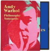 Andy warhol philosophy notecard set
