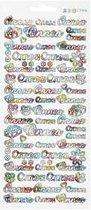 Stickers vel 10x23 cm wit Onnea 1vel