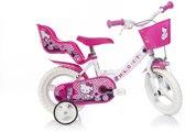 Dino Hello Kitty 152nl - Kinderfiets - 12 Inch - Meisjes - Roze/Wit