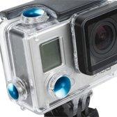 3 PCS TMC aluminium geanodiseerde kleurknoppen set voor GoPro Hero 3+ (blauw)