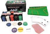 Texas Hold Em Poker Set - Pro Pokerset Met 200 Poker Chips / Pokerkaarten Cards / Speelkleed