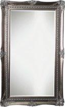 Qweens - Spiegel - Sara- antiek zilver - buitenmaten breed 84 cm x hoog 114 cm.