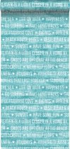 krijtverf eco texture vliesbehang zomerse quotes turquoise - 148642 van ESTAhome nl