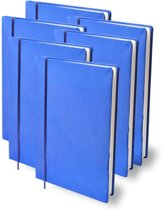 Rekbare boekenkaft A4 - Dark blue - 6 pack