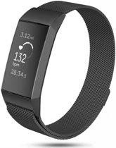 123Watches.nl Fitbit charge 3 milanese band - zwart - SM