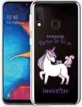 Galaxy A20e Hoesje Born to be a Unicorn