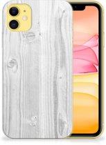 iPhone 11 Bumper Hoesje White Wood