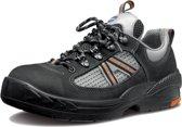 Arbesko 855 – Lage Werkschoenen S1 – Unisex – Zwart/Zilver maat 41