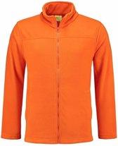 Oranje fleece vest met rits voor volwassenen 2XL (44/56)