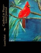Cardinal in Pines Lined Journal