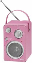 AEG Designradio roze MR 4144