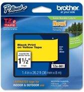 Brother Tape P-TOUCH TZE661 36MM Zwart op Geel