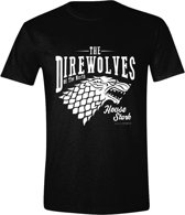 Game of Thrones - The Direwolves Men T-Shirt - Zwart - Maat M