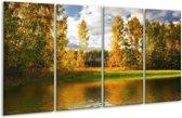 Glasschilderij Natuur   Groen, Bruin, Wit   160x80cm 4Luik   Foto print op Glas    F002699