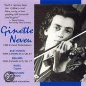 Beethoven, Brahms: Concertos; Chausson: Poeme; Ravel: Tzigane