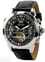 Calvaneo 1583 Calvaneo Astonia Black Diamond Steel - Horloge - 46 mm - Automatisch uurwerk