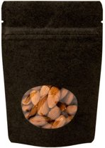 Stazakken Kraft Zwart met ovaal Venster 17x9x28,5cm | 340 gram (100 stuks)