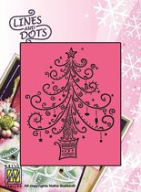 Stencil Lines and Dots X-mas tree-2