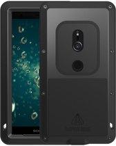 Metalen fullbody hoes voor Sony Xperia XZ2, Love Mei, metalen extreme protection case, zwart