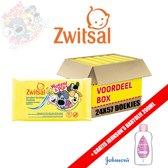 Zwitsal Woezel & Pip Sensitive Vochtige Doekjes 24x57 - Voordeelverpakking + Gratis Johnson's Babyolie 200ml