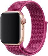 Shop4 - Apple Watch 3/2/1 38mm Bandje - Medium Nylon Donker Roze