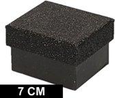 Zwart glitter cadeaudoosje 7 cm rechthoekig - kadodoosjes / cadeauverpakking