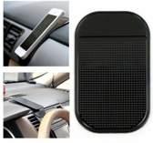Auto Telefoniehouder Matje - Sticky pad / Voor Telefoon, Smartphone, Sleutels etc. / Zwart