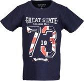 Blue Seven Jongens T-shirt - donkerblauw - Maat 122